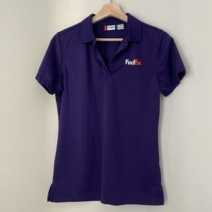 Purple FedEx short sleeved polo size S